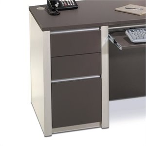 Bestar Connexion Office 1 Drawer Filing Cabinet in Slate & Sandstone
