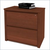 Bestar Prestige + 36 Inch Lateral File in Cognac Cherry
