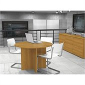 Bestar Meeting Solutions 42 Inch Round Meeting Table in Cappuccino Cherry