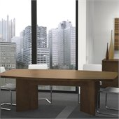 Bestar Meeting Solutions 8' Boat Shaped Light Board Top Conference Table in Chocolate