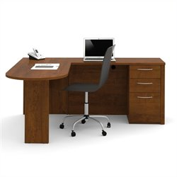 Bestar Embassy L-Desk in Tuscany Brown Finish