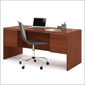 Bestar Fall Creek Executive Desk in Bordeaux