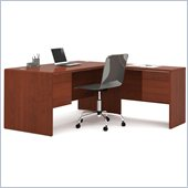 Bestar Fall Creek L-shaped Workstation in Bordeaux