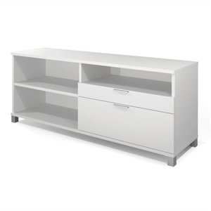 Bestar Pro-Linea Credenza with doors in White