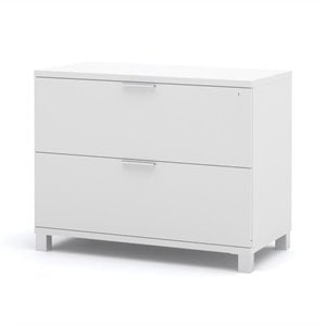 Bestar Pro-Linea 2 Dawer Lateral File Cabinet in White - Assembled