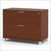 Bestar Pro-Linea Assembled Lateral File in Cognac