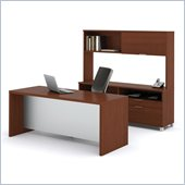 Bestar Pro-Linea Executive Kit in Cognac and White