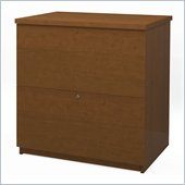 Bestar 2 Drawer Lateral Wood File Storage Cabinet in Cognac Cherry