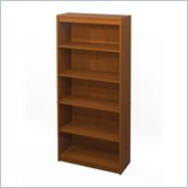 Bestar 5 Shelf Bookcase in Cognac Cherry