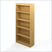 Bestar 5 Shelf Bookcase in Secret Maple