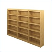 Bestar 5 Shelf Wall Bookcase in Secret Maple