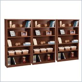 Bestar Elite Modular 5 Shelf Bookcase in Tuscany Brown