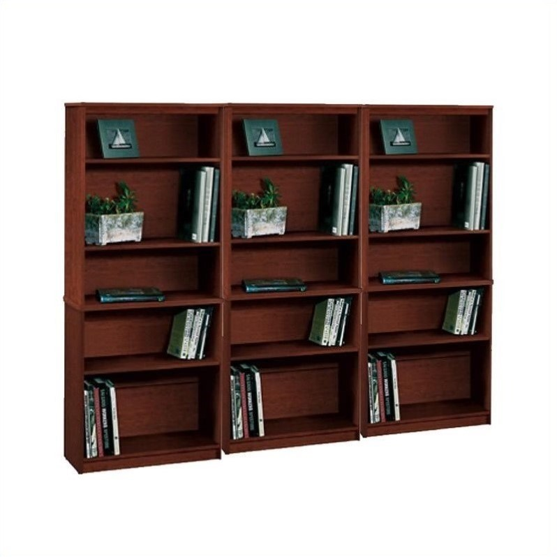 5 Wall Bookcase in Tuscany Brown