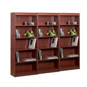 Bestar 5 Wall Bookcase in Bordeaux 