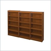 Bestar 5 Shelf Wall Bookcase in Cognac Cherry