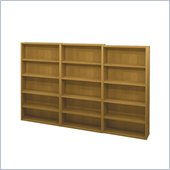 Bestar Pro-Biz Commercial Wall Bookcase in Cappuccino Cherry