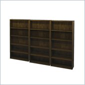 Bestar Pro-Biz Commercial Wall Bookcase in Chocolate