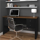 Bestar Somerville Executive Desk in Black and Tuscany Brown