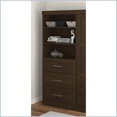 Bestar Create 36 Storage Unit with Drawers in Chocolate