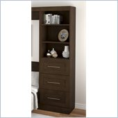 Bestar Create 25 Storage Unit with Drawers in Chocolate