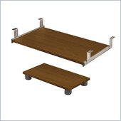 Bestar Prestige + Keyboard Shelf and CPU Platform In Cognac Cherry