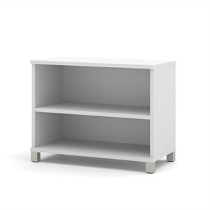 Bestar Pro-Linea 2-shelf Bookcase in White
