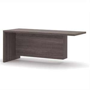 Bestar Pro-Linea Return Table in Bark Grey