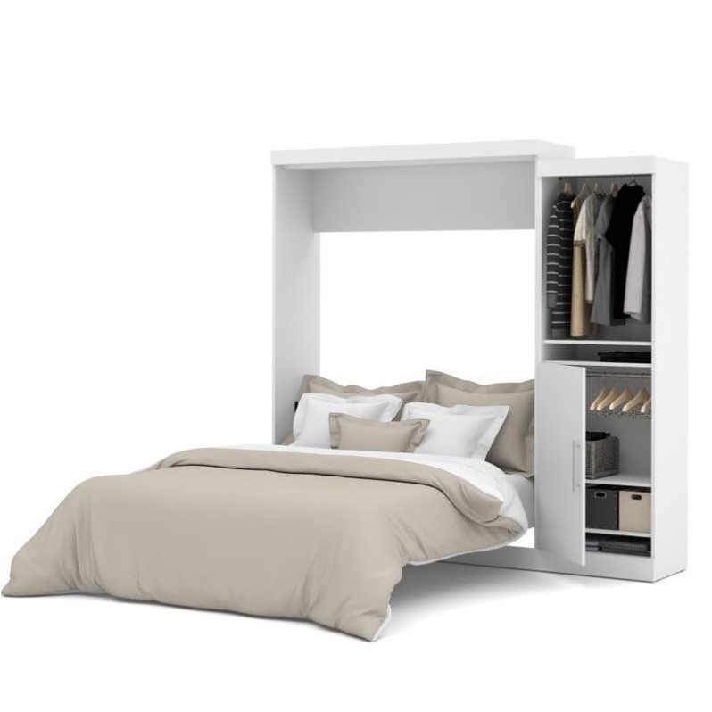 Bestar Nebula 90 Queen Wall Bed Kit in White