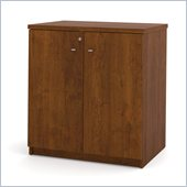 Bestar Elite 2 Door Storage Cabinet in Tuscany Brown