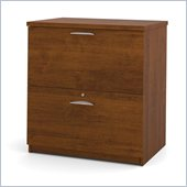 Bestar Elite 2 Drawer Lateral File Storage Cabinet in Tuscany Brown