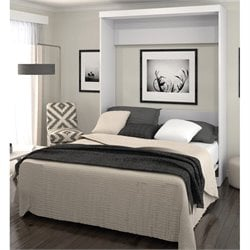 Bestar Pur Queen Wall Bed in White