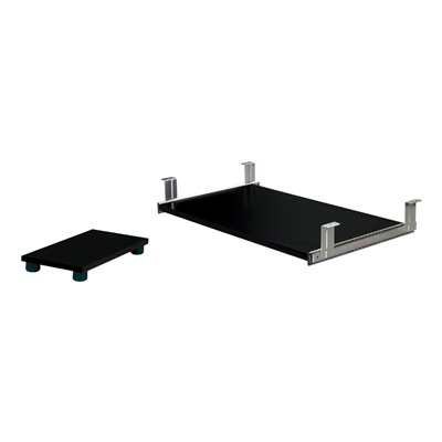 Bestar Charcoal Keyboard Shelf and CPU Platform