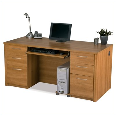 Bestar Embassy Executive Desk Kit in Cappuccino Cherry
