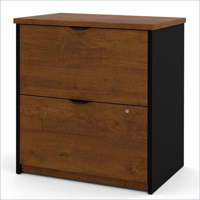 Bestar Innova 2 Drawer Lateral Wood File Storage in Tuscany Brown
