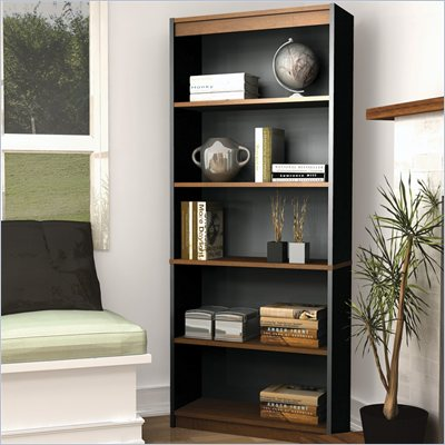 Bestar Innova 5 Shelf Bookcase in Tuscany Brown