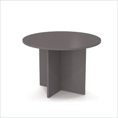 Bestar Meeting Solutions 42 Inch Round Meeting Table in Slate