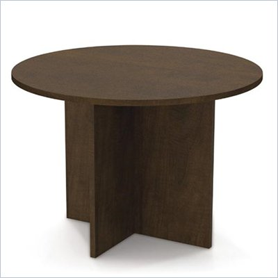 Bestar Meeting Solutions 42 Inch Round Meeting Table in Chocolate