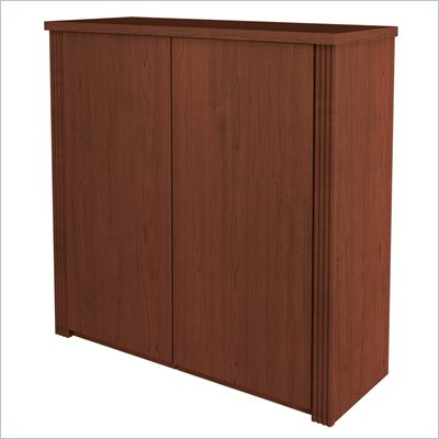 Bestar Prestige + 2-Door Cabinet for 36 Inch Lateral File in Cognac Cherry