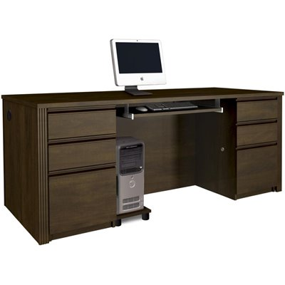 Bestar Prestige + Computer Desk in Chocolate