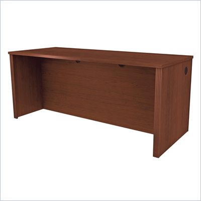 Bestar Prestige + Wood Credenza in Cognac Cherry