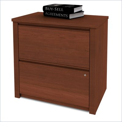 Bestar Prestige 2 Drawer Lateral Wood File Cabinet In Cognac Cherry