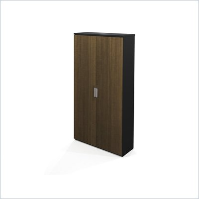 Bestar Pro-Concept Armoire in Black and Milk Chocolate