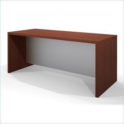 Bestar Pro-Linea Executive Desk in Cognac and White