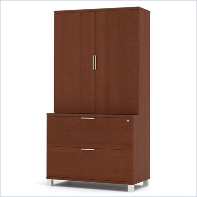 Bestar Pro-Linea Lateral File and Cabinet Kit in Cognac