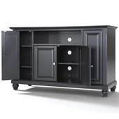Crosley Furniture Cambridge 48 TV Stand in Black Finish