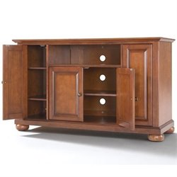 Crosley Furniture Alexandria 48 TV Stand in Classic Cherry Finish