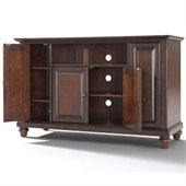 Crosley Furniture Cambridge 48 TV Stand in Vintage Mahogany Finish