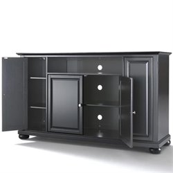 Crosley Furniture Alexandria 60 TV Stand in Black Finish