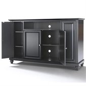 Crosley Furniture Cambridge 60 TV Stand in Black Finish