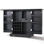 Crosley Furniture Alexandria Expandable Bar Cabinet in Black Finish